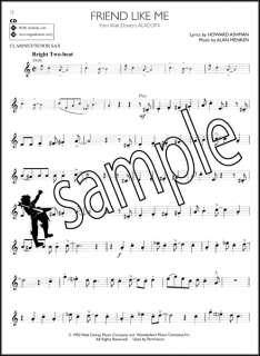 Disney Solos for Clarinet or Tenor Sax Saxophone Sheet Music Book