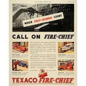 1933 Ad Texas Company Texaco Fire Chief Gasoline Engine