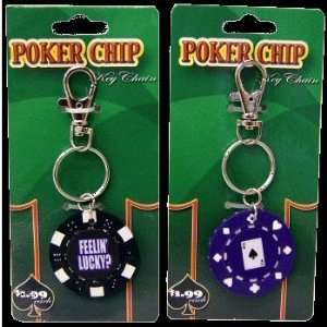Keychain Poker Chip 24 Pc. Display Spors & Oudoors