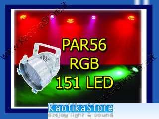 PAR 56 LEd faro 151 Leds luminosi RGB rosso verde blu bianco Faro