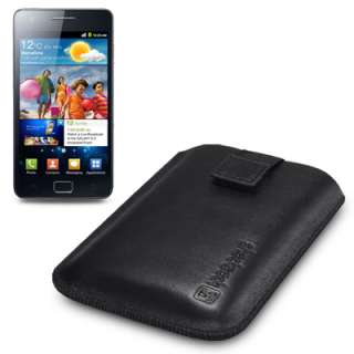 SHOCKSOCK GENUINE LEATHER CASE FOR SAMSUNG GALAXY S2 II
