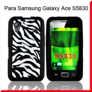 Cebra Flor Funda Silicona Para Samsung Galaxy Ace S5830