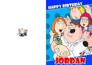 PERSONALISED FAMILY GUY BIRTHDAY CARD
