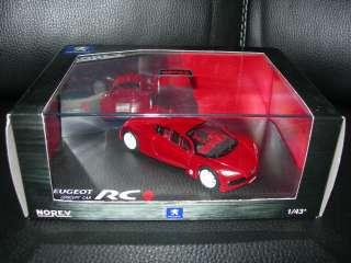 voiture miniatures 1 43 norev peugeot concept car rc carreau avec