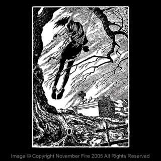 Hanged Man Shirt 45 Grave Spooky Graveyard Goth Death