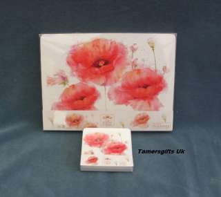 Poppy Design Table/ Place Mats  Coasters By Leonardo