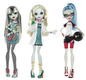 Monster High CLASSROOM Doll  Ghoulia, Frankie, Lagoona Freaky Just