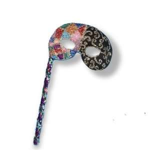 Lets Party By Peter Alan Inc Jewelry Stone Mask On Sequined Stick
