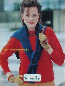 PUBLICITE BENETTON VETEMENT MODE FASHION DE 1981 FRENCH AD PUB