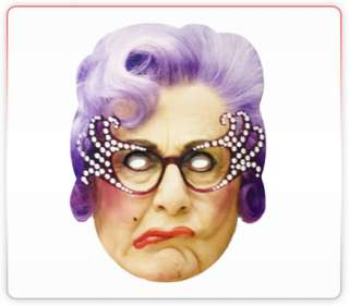 Dame Edna Celebrity Funny Face Mask Ideal For Fancy Dress Hen Stag