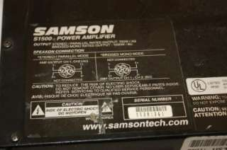 Samson S1500 2 Channel Power Amplifier