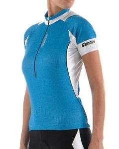 Maglia ciclismo donna Santini Sharp Azzurro Turchese S