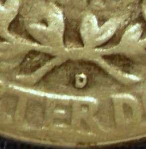 1950 US Washington Quarter*D over S* Mint Mark*Error Coin*Very Fine