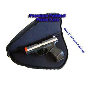 Premium Airsoft Padded Handgun Pistol Gun Case Black