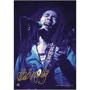 Bob Marley Blue fabric Poster Flag Home & Kitchen