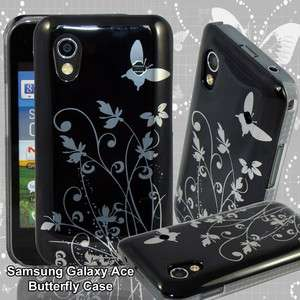 CASE COVER FOR SAMSUNG GALAXY ACE S5830 HARD BACK COVER BLACK SILVER