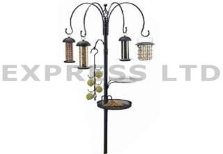 BIRD FEEDING STATION TRAY WATER BATH TABLE SEED HANGING FEEDER