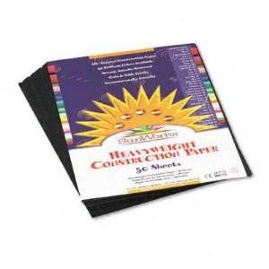 SunWorks Construction Paper   Heavyweight, 9 x 12, Black