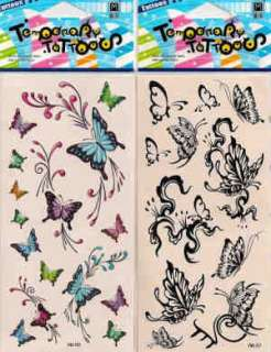 10 packs temporary tattoos tattoo butterfly bud flower