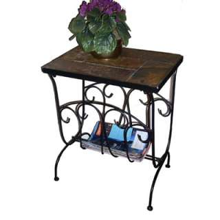 4D Concepts Magazine End Table w/ Slate Top  Wayfair