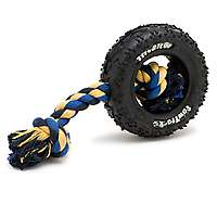 Reviews for Mammoth Pet Paw Tracks Tire Biter with Cotton Rope Dog Toy