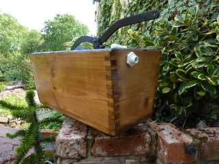 RESTORED Antique Wood HIGH LEVEL TOILET CISTERN old