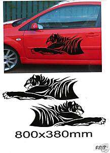 TIGER CAR SIDE GRAPHICS DECALS STICKER KIT 607