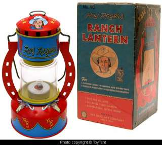 Roy Rogers cowboy ranch lantern Ohio Art Co. boxed
