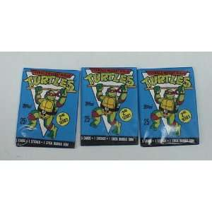 b5 1989 TEENAGE MUTANT NINJA TURTLES 3 WAX PACKS TRADING