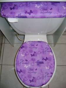 Hannah Montana Butterfly Toilet Seat Lid&Tank Cover set