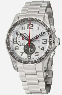 Chrono Classic XLS Steel Mens Sport Alarm Watch Silver dial