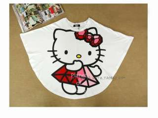 Trendy Hello Kitty Lady girl Tee shirt top dress