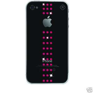 Coque strass Swarovski Apple Iphone 4/s   Bling my Thing Pink Stripe