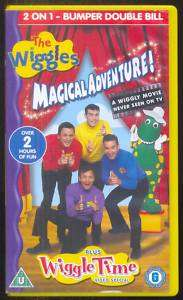 THE WIGGLES MAGICAL ADVENTURE / WIGGLE TIME VHS PAL