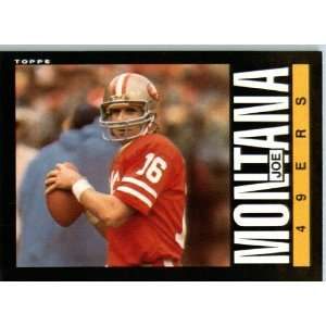 1985 Topps # 157 Joe Montana San Francisco 49ers Football Card