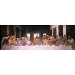 Last Supper (Detail) by Leonardo Da Vinci. Art Poster Print: 36 inches