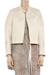 Acne Mantra Tattoo embossed leather jacket   65% Off Now at THE OUTNET