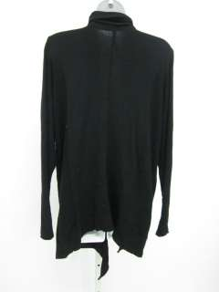 KENSIE Black Long Sleeve Open Cardigan Sweater Top Sz L