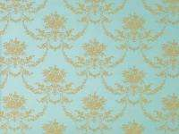 French Label ~ Provincial Shabby Chic ~Turquoise & Gold