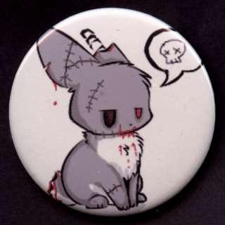 MIRROR ZOMBIE BUNNY Lowbrow Anime Style Dead Skull Bag