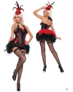 Sexy Costumes  Dancers  Deluxe Womens Sexy Moulin Rouge Costume