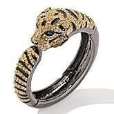 adrienne jeweled tiger black leather cuff bracelet  price $ 69 95 2