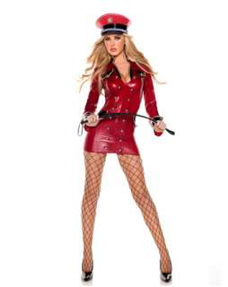 Sexy Red Army Girl Adult Costume  Sexy Military Halloween Costumes