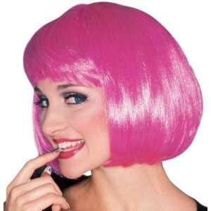 Super Model Wig (Hot Pink) Adult, 65061