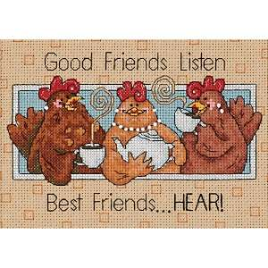 Good Friends Listen Mini Counted Cross Stitch Kit