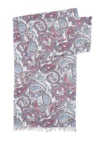 Pretty Green  Ecru Vintage Paisley Print Scarf by Pretty Green