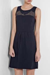 Vanessa Bruno Athe  Marine Jersey Knitted Shoulder Dress by Vanessa