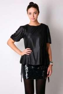 Black Sheman Chiffon Sash Top By Malene Birger   Black   Buy Tops