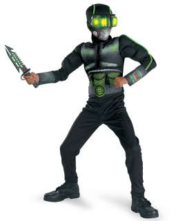 Stealth Commando Deluxe Child Costume   Includes Jumpsuit, Mask, Hood