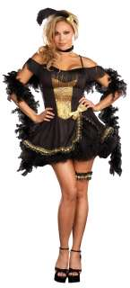 Goldie Rush Plus Adult Costume   Includes Dress, Garter, Neckband